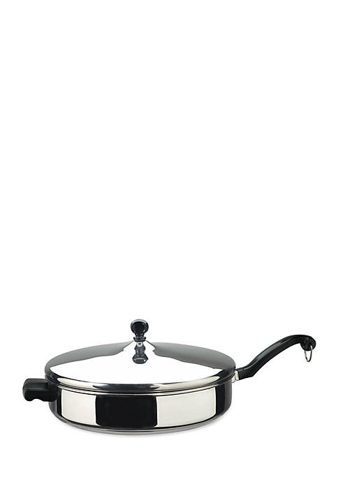 Farberware Classic Series 12-in. Covered Frypan, Stainless Steel