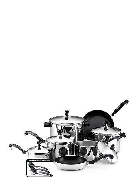 Classic Series 15-Piece Cookware Set, Stainless Steel