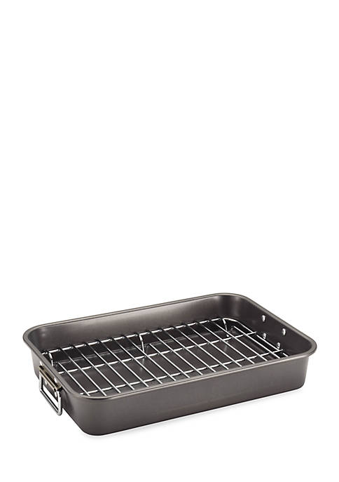 Farberware Bakeware 11-in. x 15-in. Roaster with Flat