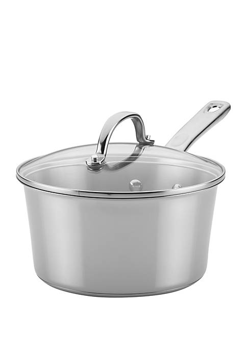 Ayesha Curry Stainless Steel Covered Saucepan, 3 Quart