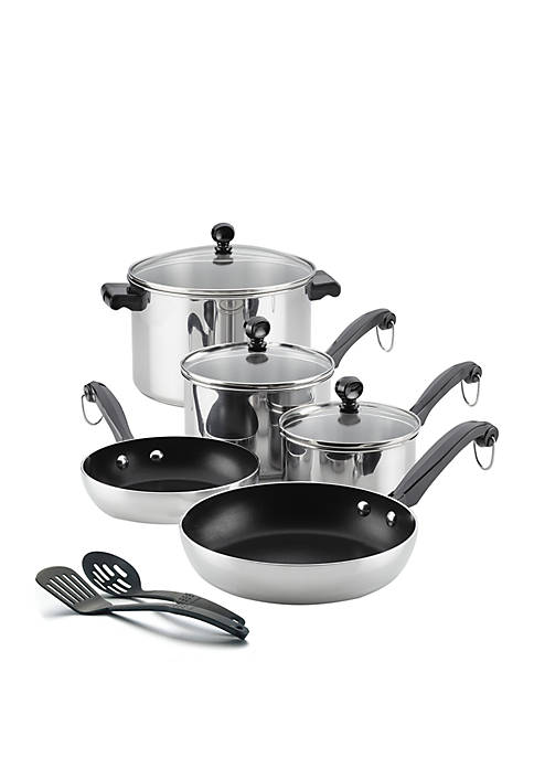 Farberware Classic Series Stainless Steel Nonstick 10 Piece