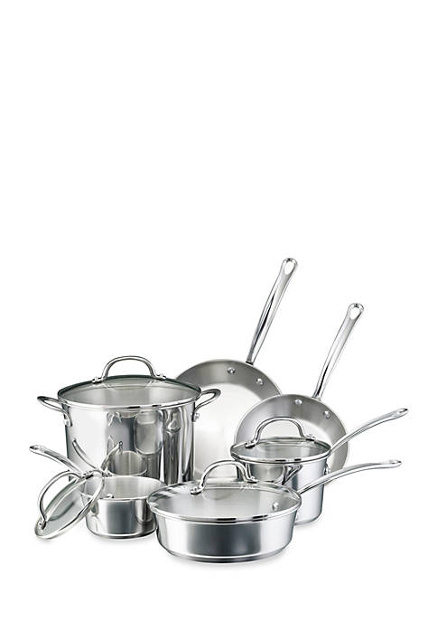 Millennium Stainless Steel Cookware 10-Piece Set, Stainless Steel