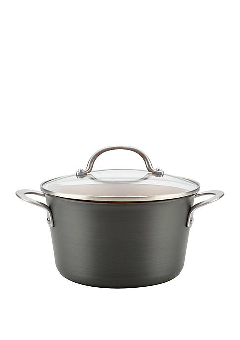 Ayesha Curry Hard Anodized Aluminum Covered Saucepot, 4.5
