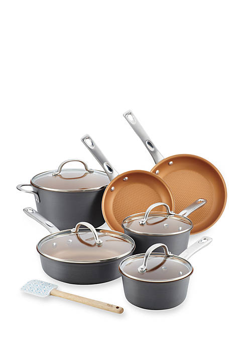 Ayesha Curry Home Collection 11-Piece Hard Anodized Aluminum