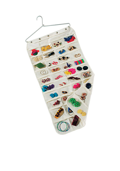 Household Essentials® 80 Pocket Canvas Jewelry Organizer