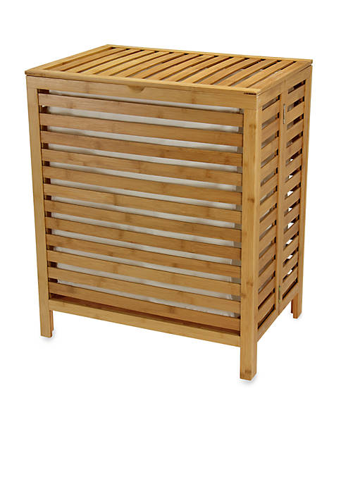 Household Essentials® Natural Bamboo Open-Slat Hamper