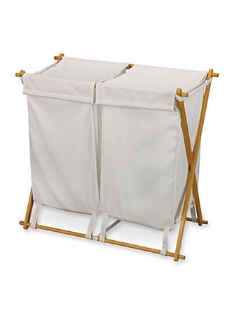 Household Essentials® Fir Wood X-Frame Double Hamper - Online Only ...