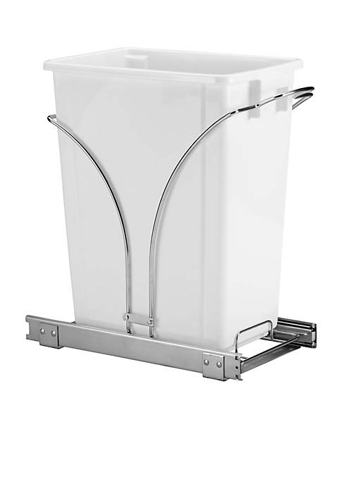 Household Essentials® 19-in. Sliding Trash Can-Chrome Single Pack
