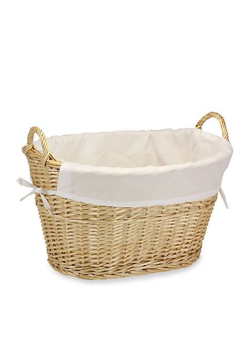 Household Essentials® Natural Willow Laundry Basket with Cotton