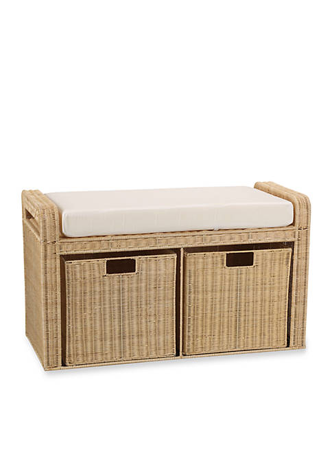 Household Essentials® Rattan Wicker Storage Bench