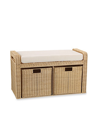 Fine Rattan Wicker Storage Bench Online Only Pabps2019 Chair Design Images Pabps2019Com