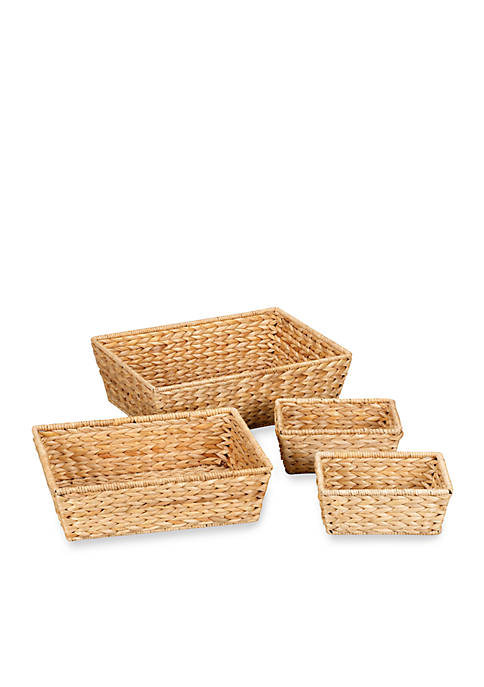Household Essentials® Banana Leaf Wicker Decorative Storage