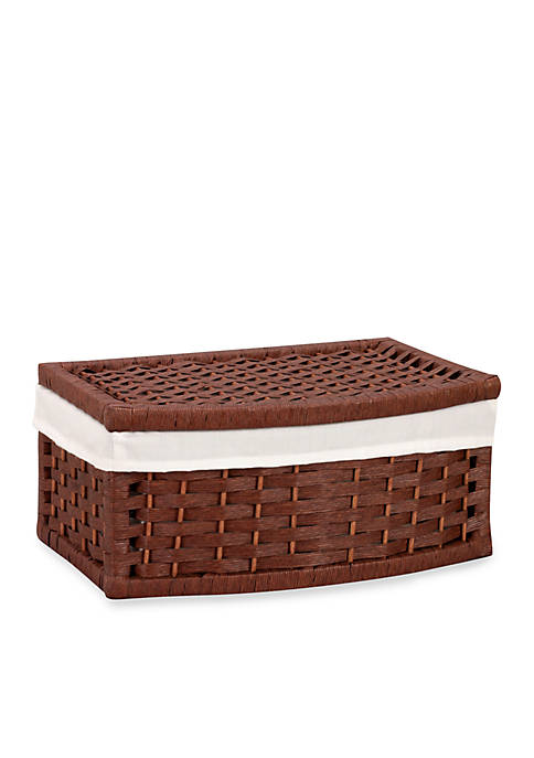 Household Essentials® Curved Paper Rope Basket with Lid
