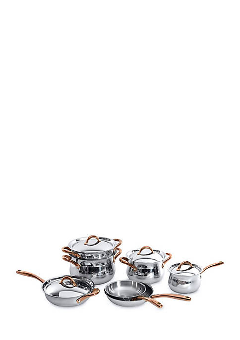 BergHOFF® Ouro Stainless Steel 11-Piece Cookware Set with