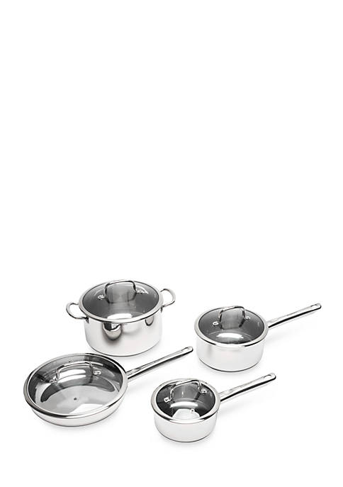 Boreal 8-Piece Stainless Steel Cookware Set