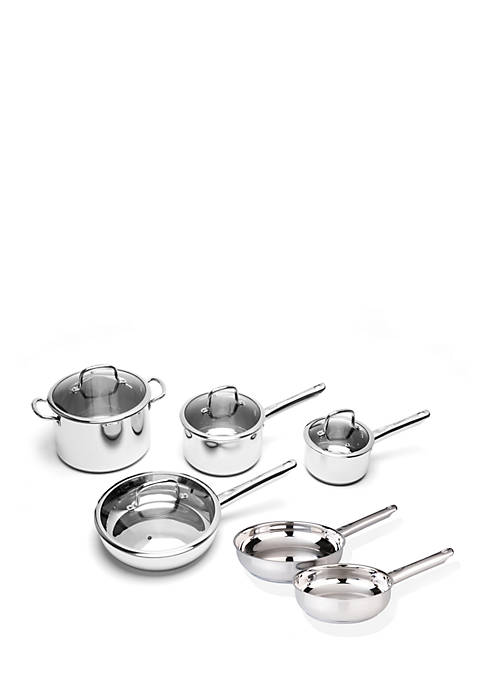 Boreal 10-Piece Stainless Steel Cookware Set