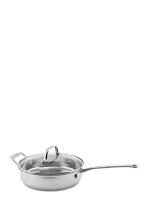 EarthChef Premium Glass Covered Deep Skillet, 10-in.