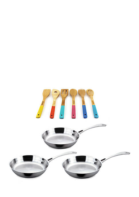 Copper Clad Stainless Steel 9-Piece Cookware and Tools Set