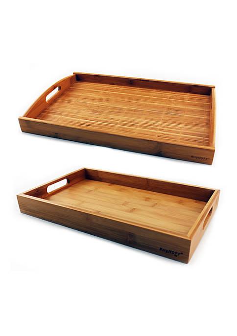Bamboo Graduated 2-Piece Tray Set