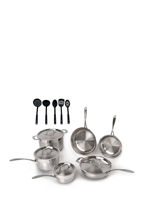 BergHOFF® 15-Piece Stainless Steel Cookware Set with 5-Piece