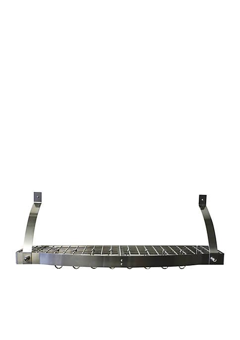 Range Kleen® Pot Rack Bookshelf Stainless Steel