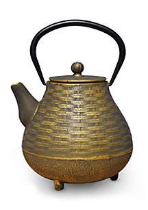 Cast Iron Orimono Teapot