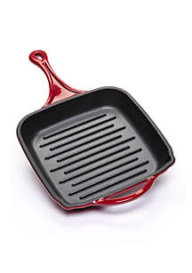 Enameled Cast Iron Grill Pan