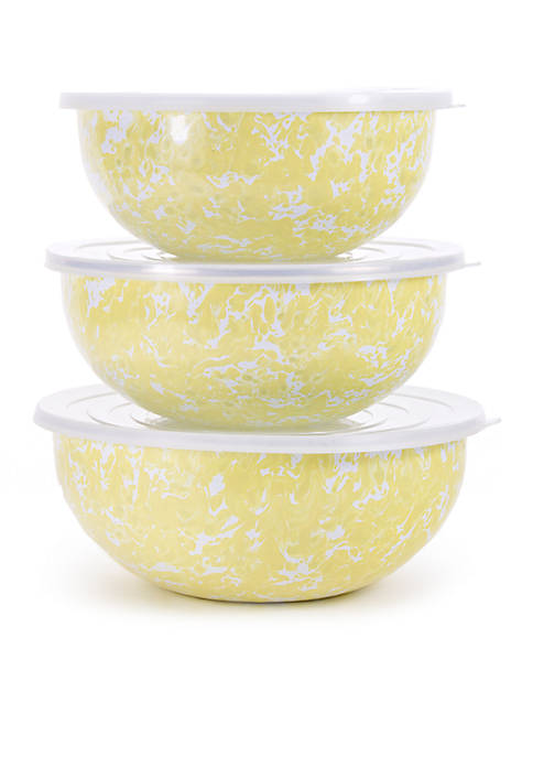 Golden Rabbit® 6-Piece Swirl Mixing Bowl Set with