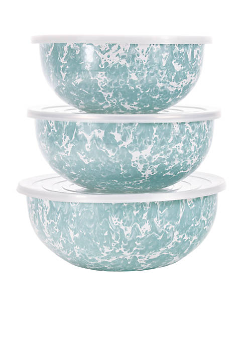 Golden Rabbit® 6-Piece Marble Mixing Bowl Set with