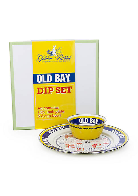 Golden Rabbit® 2-Piece Old Bay Charger and Bowl
