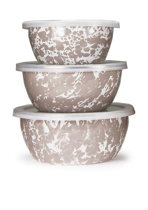Golden Rabbit® 6-Piece Small Marble Mixing Bowl Set