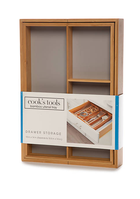 Cooks Tools™ Bamboo Flatware Tray