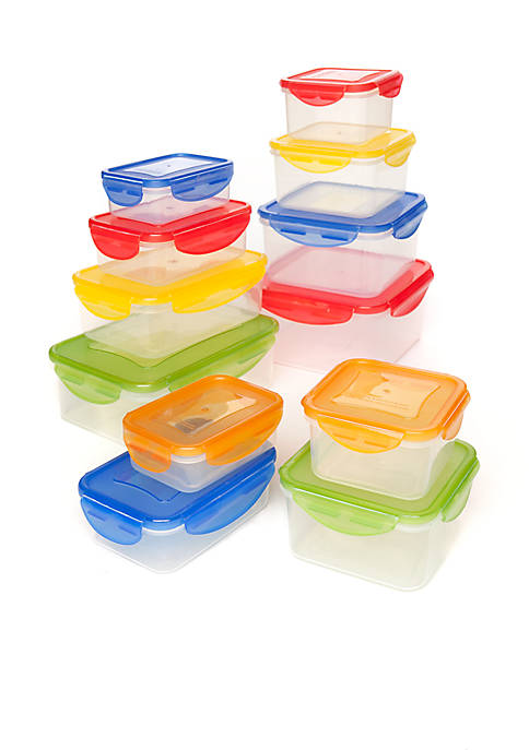 Cooks Tools 24-Piece Plastic Storage Set with Snap Lid