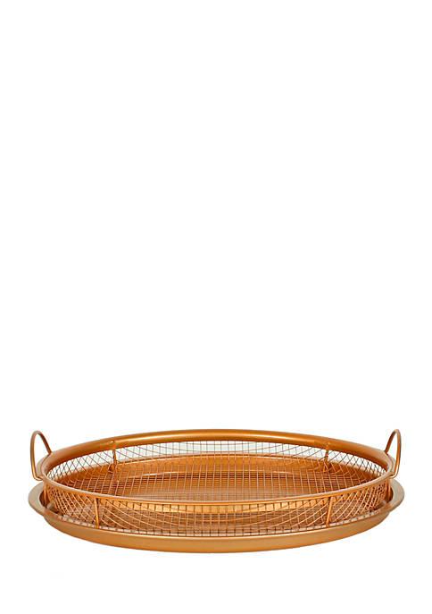 MasterPan Original Copper Pan Non-Stick Crisper Tray- Air