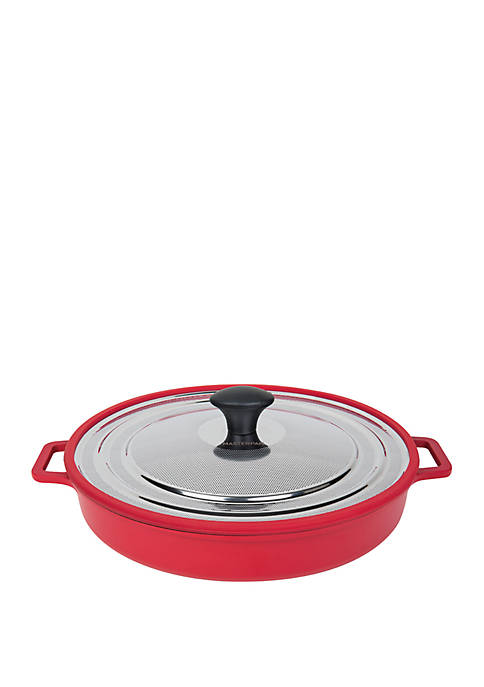 12 Inch Stovetop Oven Grill Pan with Heat in Steam Out Lid