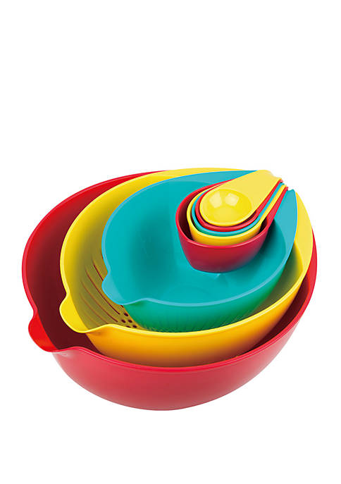 Nested Mixing and Measuring Bowl 8 Piece Set, Multi-Colored