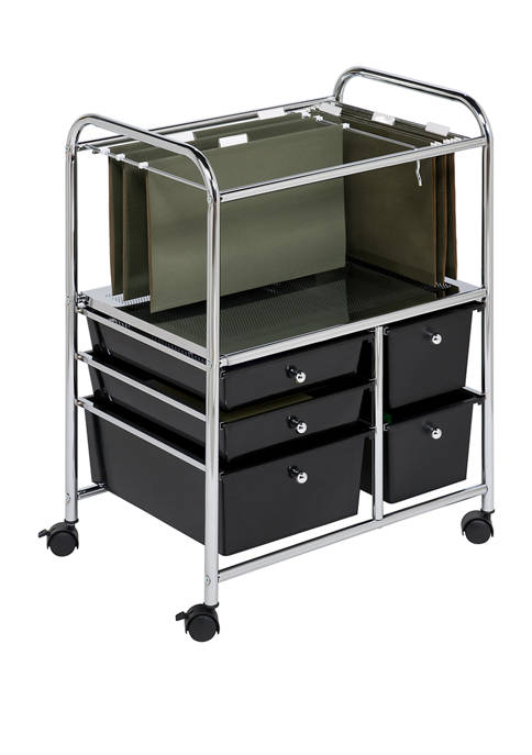 Honey-Can-Do 5 Drawer File Cart
