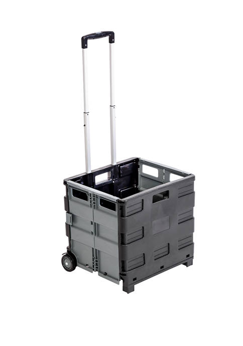 Honey-Can-Do Fold Up Rolling Storage Cart with Handle