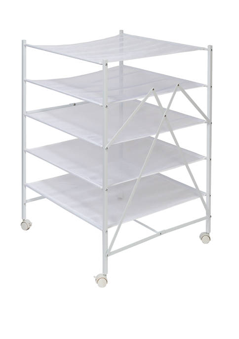 Honey-Can-Do Collapsible Rolling Clothes Drying Rack