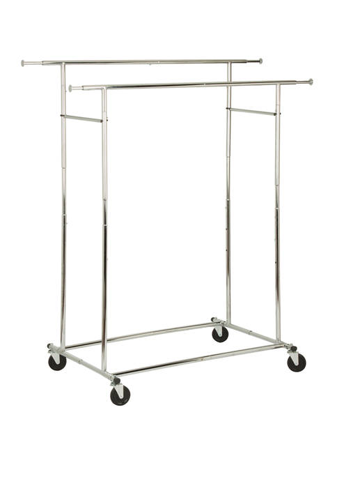 Honey-Can-Do Dual Bar Adjustable Garment Rack