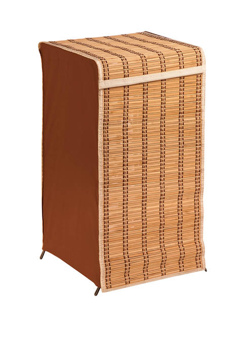 Honey-Can-Do Bamboo Wicker Hamper With Lid