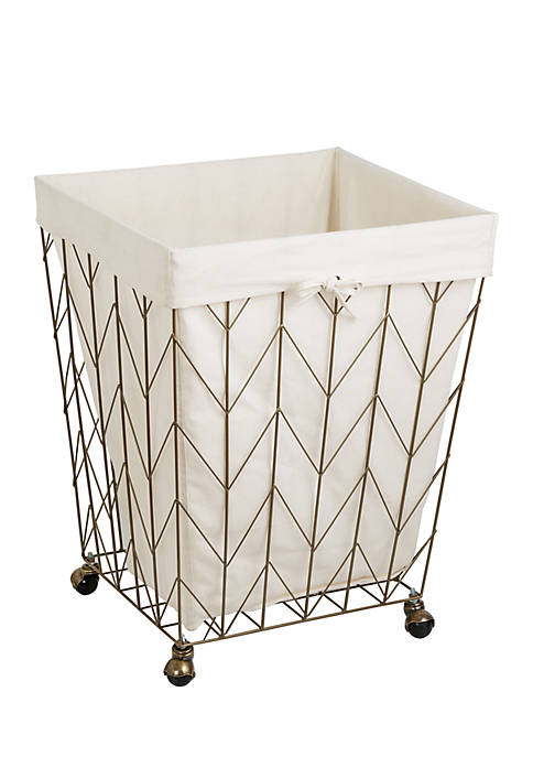 Coastal Collection Decorative Rolling Hamper