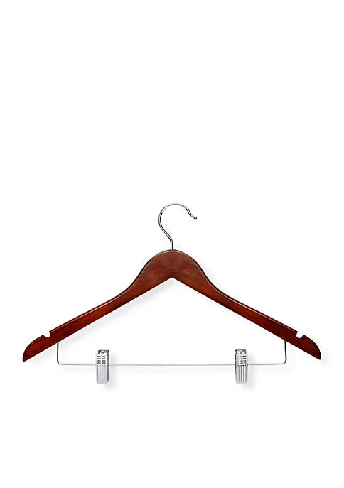 Honey-Can-Do 12-Pack Wooden Suit Hanger with Clips