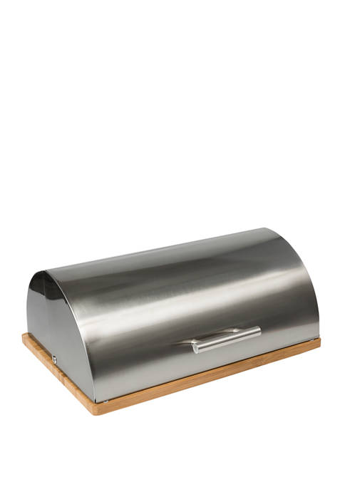 Honey-Can-Do Stainless Steel Breadbox and Bamboo Cutting Board