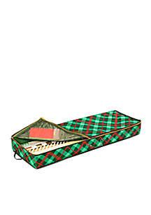 Plaid Gift Wrap Organizer