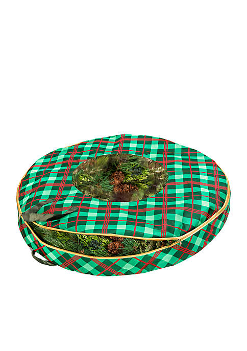 Honey-Can-Do Plaid 36-in. Wreath Storage