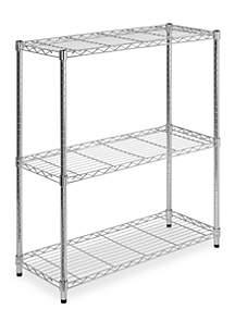 3-Tier Chrome Adjustable Storage Shelving Unit