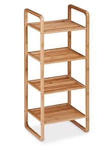 4-Tier Vertical Bamboo Shelf