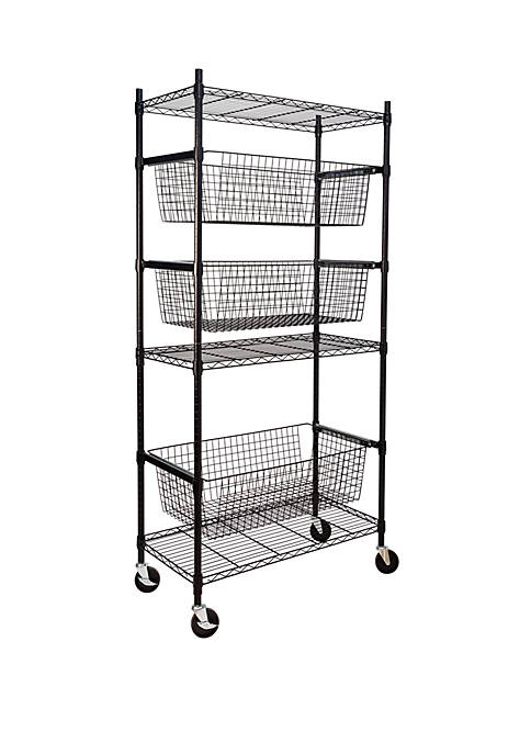 Honey-Can-Do All Star Sports Shelving Black