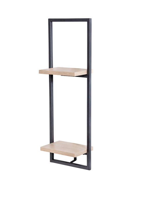 Honey-Can-Do 2 Tier Vertical Floating Wall Shelf